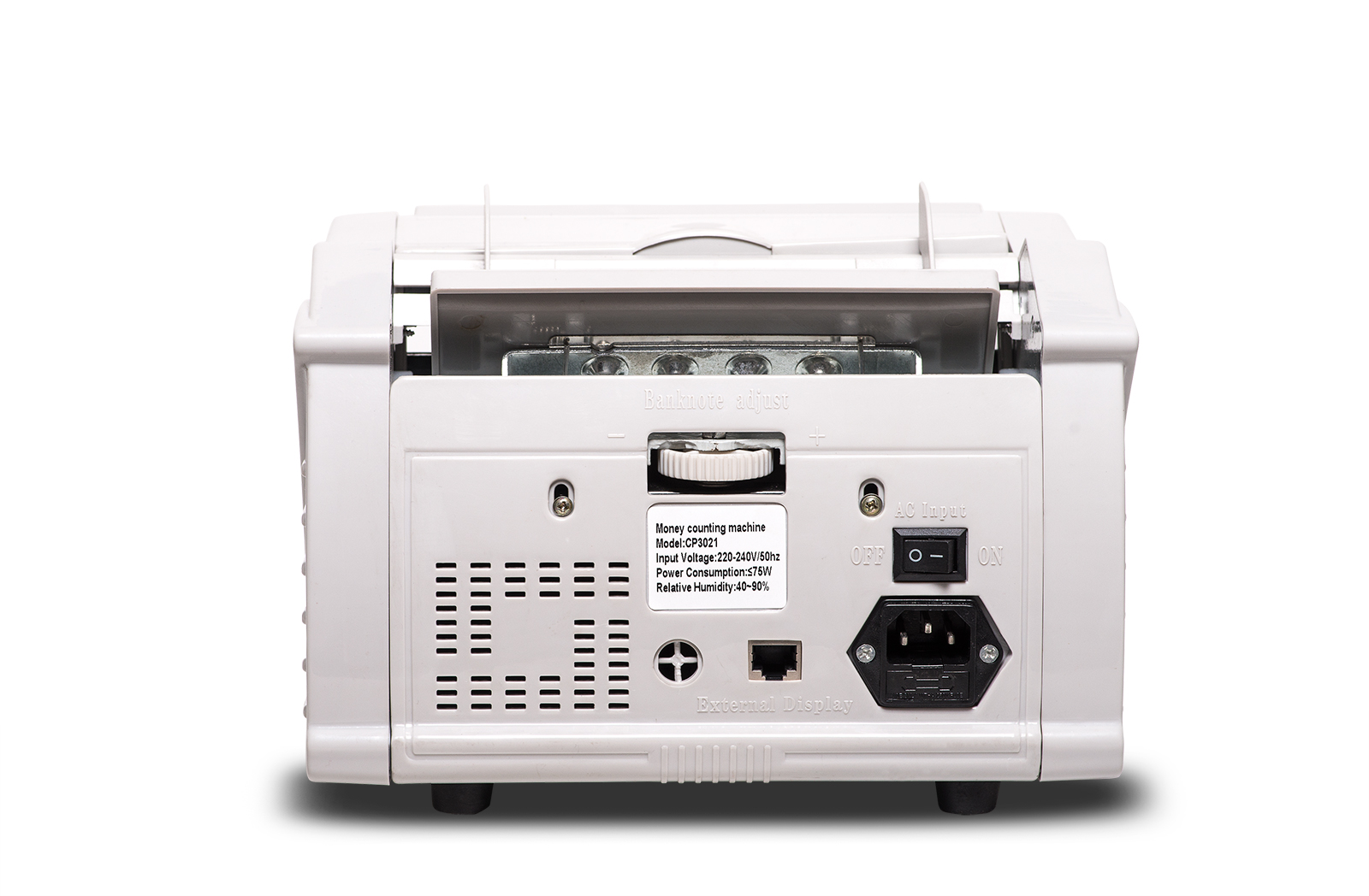 counting machine with currency detector