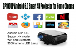 XElectron GP100UP Android 6.0 Smart 4K Projector for Home Cinema