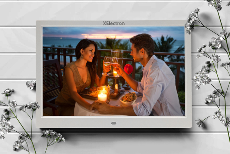 XElectron 12-inch IPS Display Digital Photo Frame